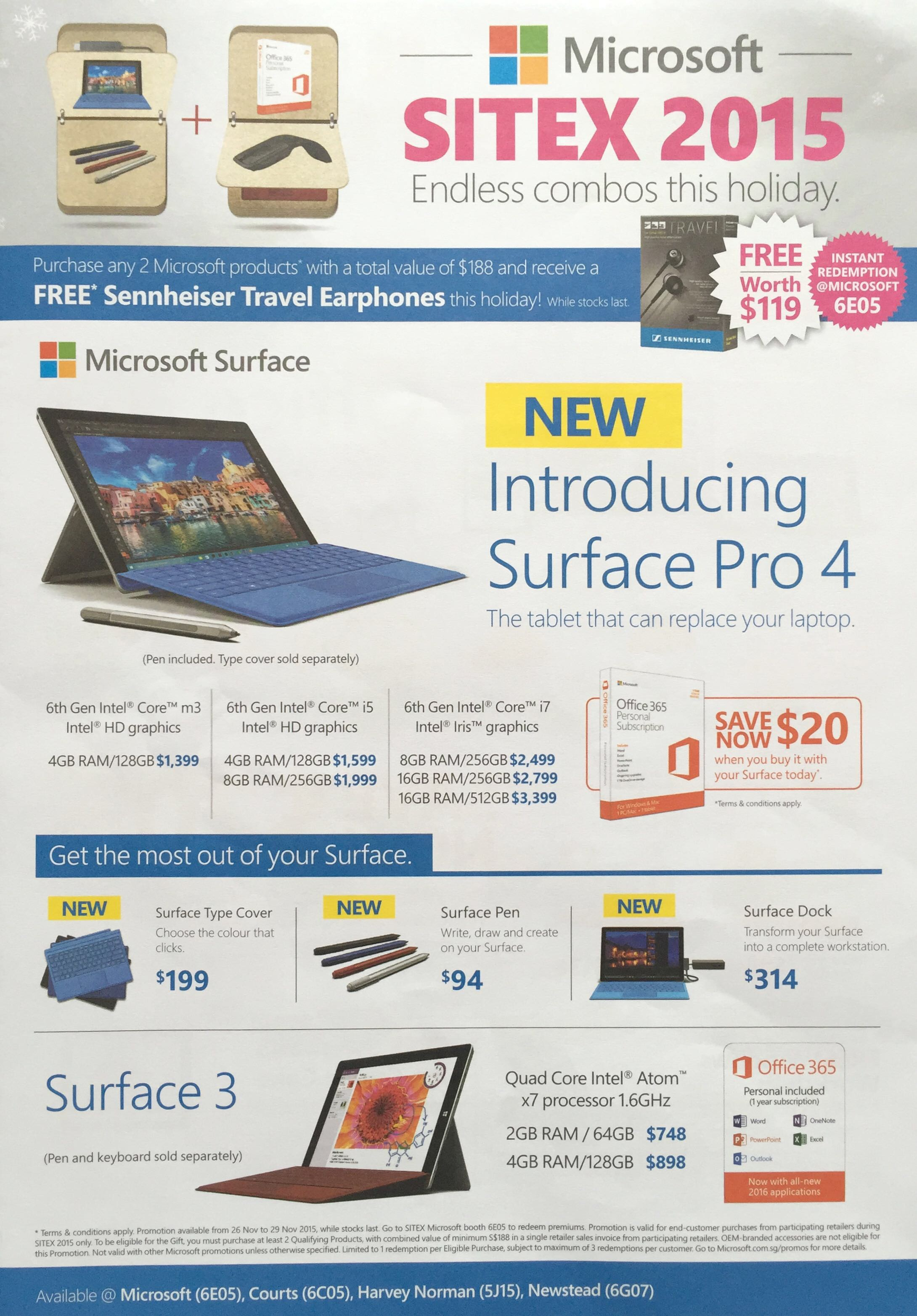Microsoft @ SITEX 2015 - Surface Pro 4 and 3