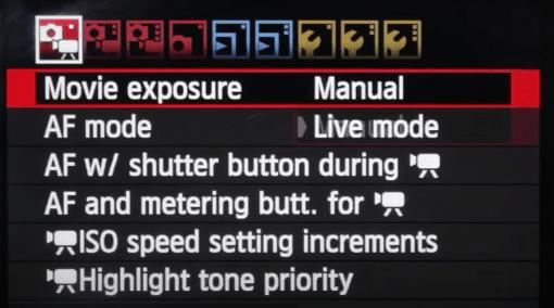 Set Movie exposure to Manual