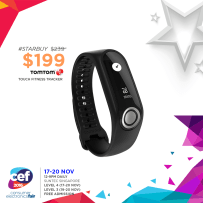 TomTom Fitness Tracker | Consumer Electronics Fair 2016 | 17-20 Nov 2016 | 12-9pm | Suntec Singapore