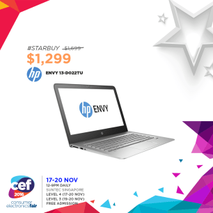 HP Envy 13-D022TU | Consumer Electronics Fair 2016 | 17-20 Nov 2016 | 12-9pm | Suntec Singapore