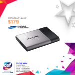 Samsung Portable T3 SSD 250GB | Consumer Electronics Fair 2016 | 17-20 Nov 2016 | 12-9pm | Suntec Singapore