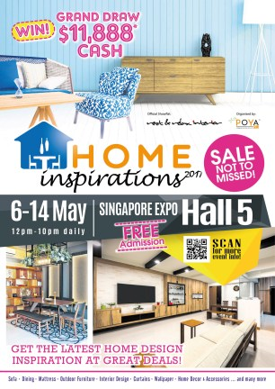 Home Inspirations 2017 | 6 to 14 May 2017 | 12pm to 10pm | Singapore Expo Hall 5 | pg3