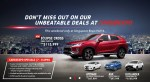 Mitsubishi Deals @ Cars@Expo | Eclipse Cross | Attrage | ASX | Outlander