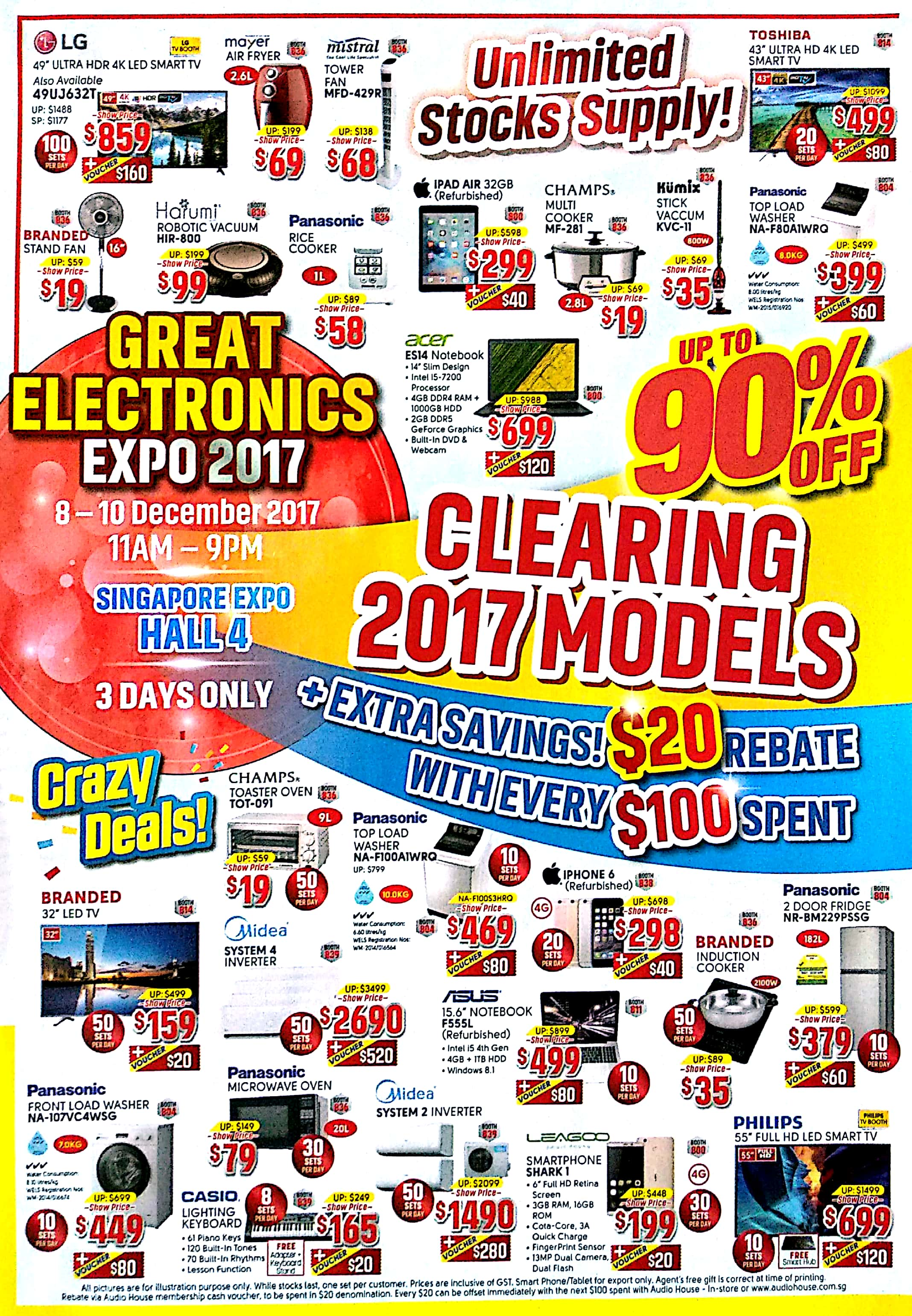 Great Electronics EXPO 2017 | 8 - 10 Dec 2017 | 11am - 9pm | Singapore EXPO | Brochure pg1