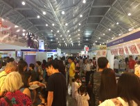 Wow! It's crowded. Singaporeans love food.