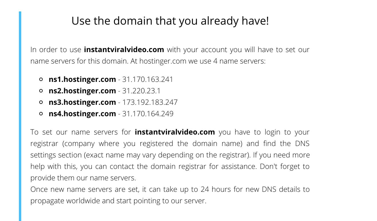 Hostinger Web Hosting Name Servers