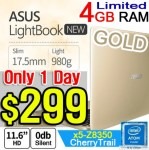 ASUS 4GB Ram 980g Lightbook Ultra-Slim Laptop