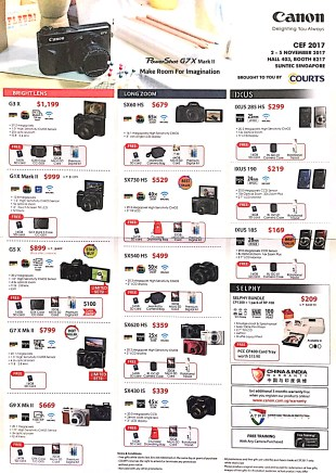 Canon Camera Deals @ CEF Show 2017 | Brochure pg1