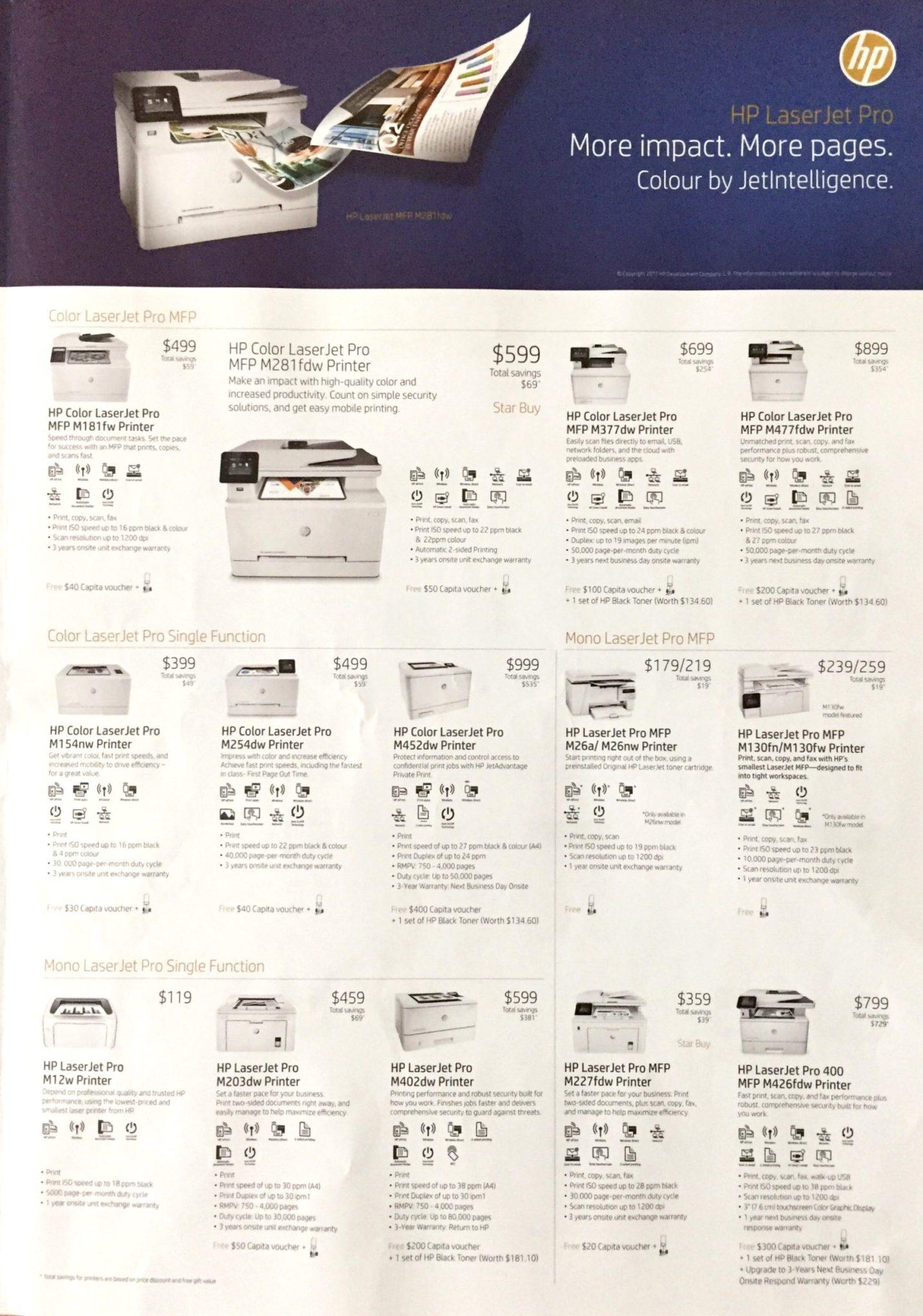 HP Printer Deals @ SITEX 2017   Brochure pg3