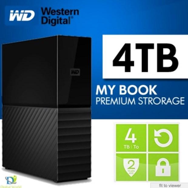 WD My Book 4TB USB 3.0 Black Desktop Hard Drive