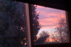 Sunrise from my window