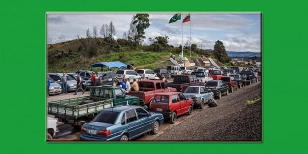 Miles de venezolanos buscando alimentos en Roraima, Brasil