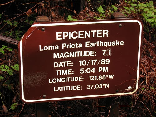 Loma Prieta Earthquake Epicenter - San Andreas Fault