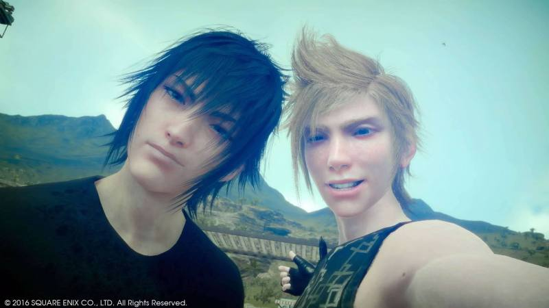 Noct and Prompto selfie