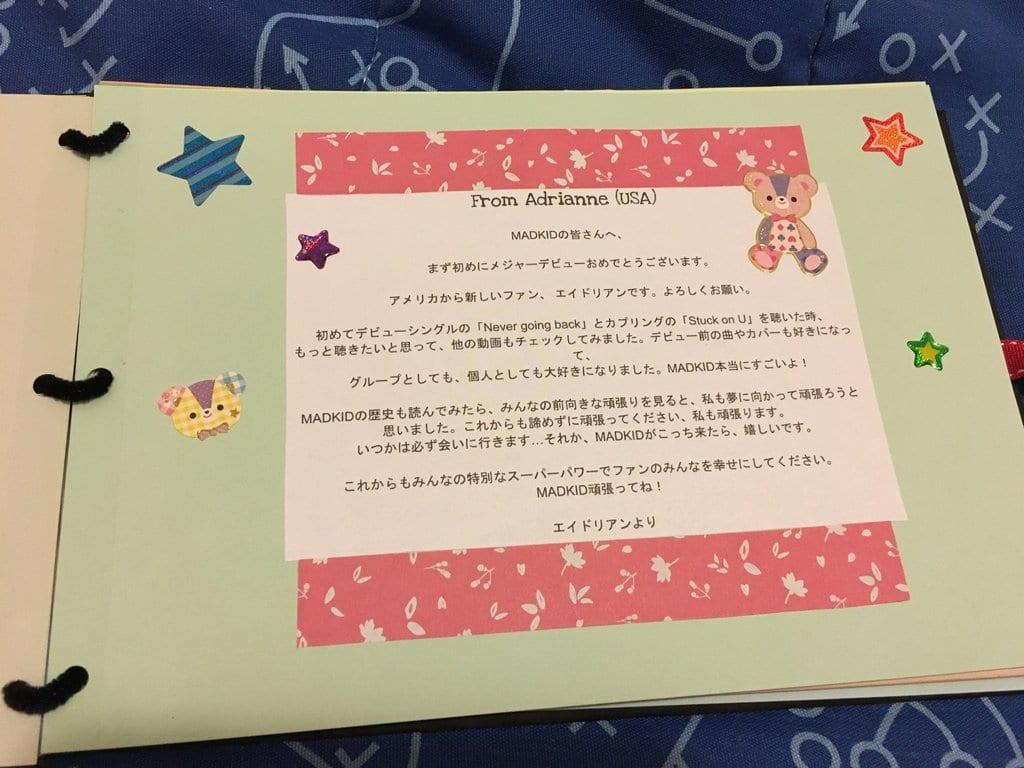 MADKID Fan Book Message - Japanese Translation