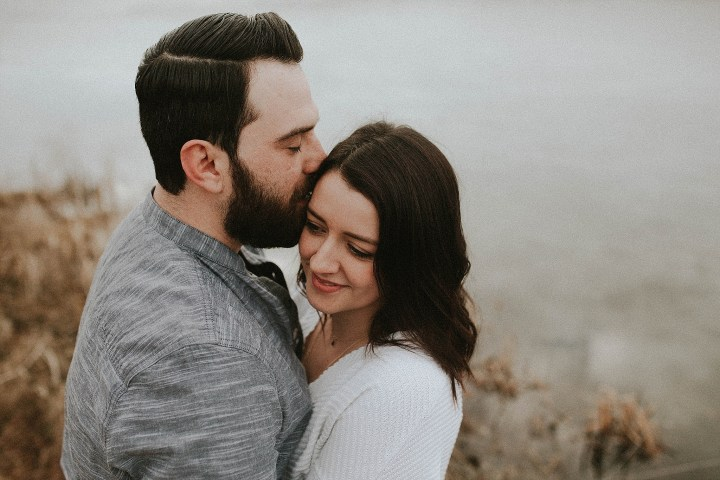 M+M Chicago winter engagement and love story
