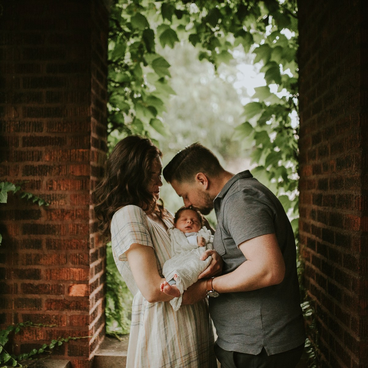 baby newborn session on the terrace