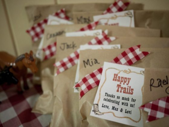 cowboy birthday party favors