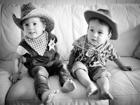 cute two year old cowboys