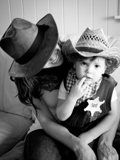 mom and son cowboy birthday party