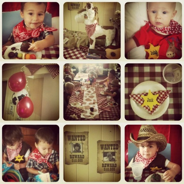 cowboy birthday party on instagram