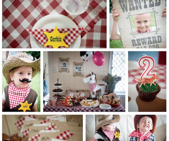 kids cowboy birthday party ideas
