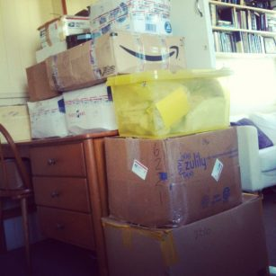 boxes of clean birth kits