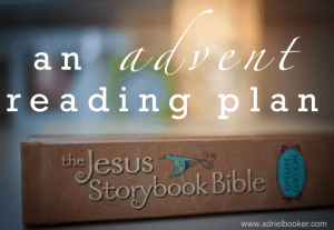 A free printable reading plan for Advent using the Jesus Storybook Bible
