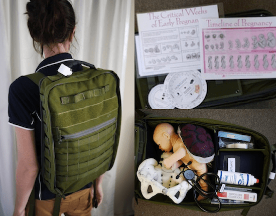 Midwife backpack and birth education resources provided by Bloggers for Birth Kits + the Love A Mama Community.