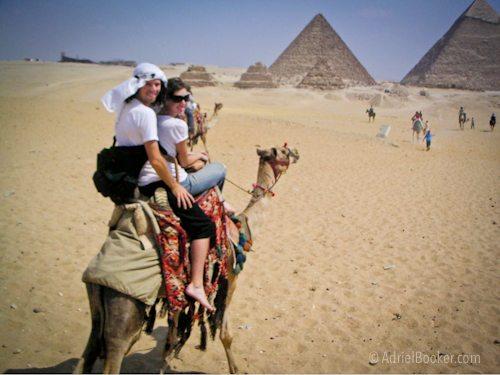 Cairo Egypt pyramids camel andy & adriel 2006