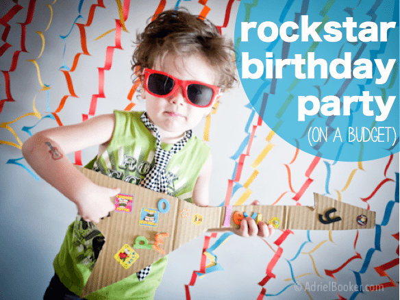 rockstar birthday party on a budget - super fun kids party idea. who doesn't love a rockstar party?!