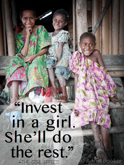 Invest in a girl and she'll do the rest. // 31 Days of Women Empowering Women on AdrielBooker.com.