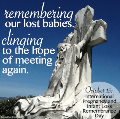 Pregnancy and Infant Loss Awareness Day - miscarriage and stillbirth