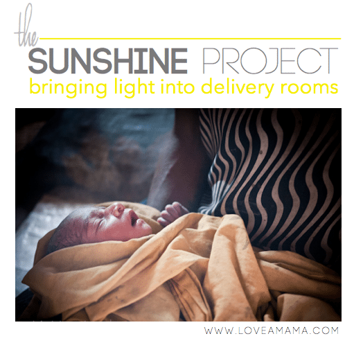 The Sunshine Project - Bringing light into the delivery room. Help a mama in Papua New Guinea this Mothers Day by giving a gift to your own mom. | 31 Days of Women Empowering Women Series.