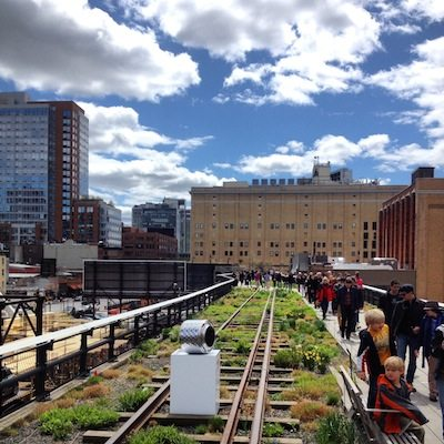 travel without kids - high line park