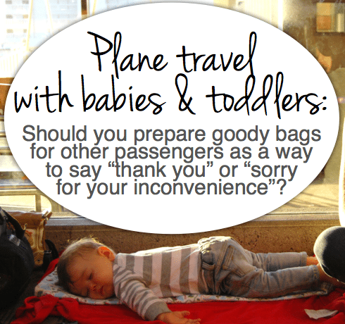plane travel with babies and small kids
