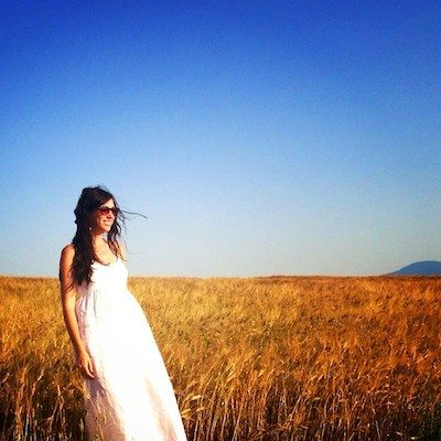 Floating between the Tuscan sun and fields of gold.