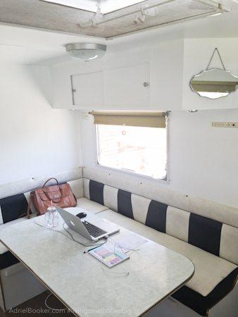 Adriel Booker - Living in a Caravan-Camper - dinette/office
