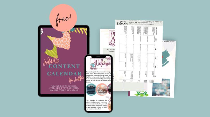 Adriel's Content Calendar for Authors