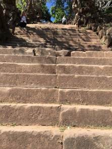 Steep stairs up