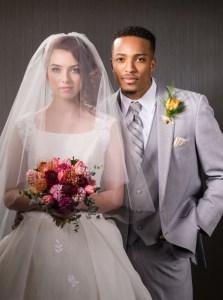 Bride and Groom modeling make up
