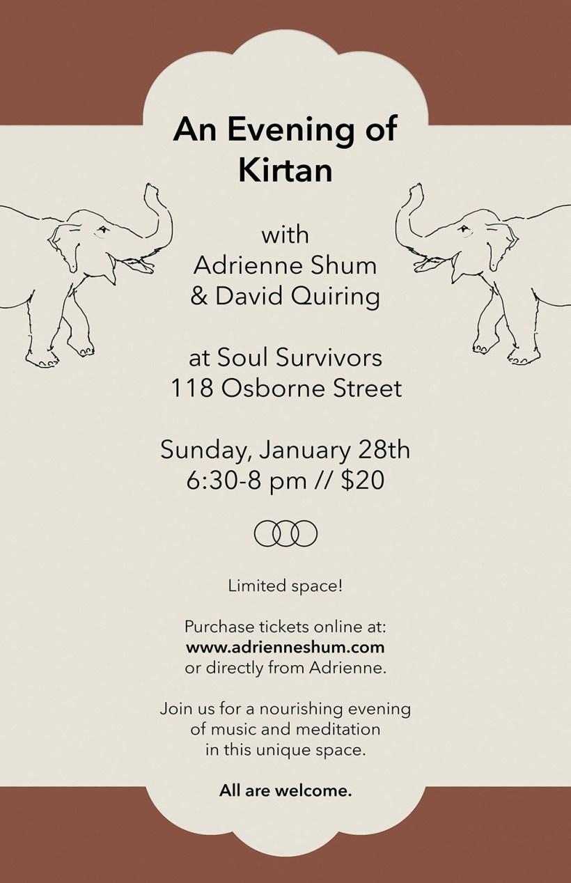 Kirtan Soul Survivors Jan 2018