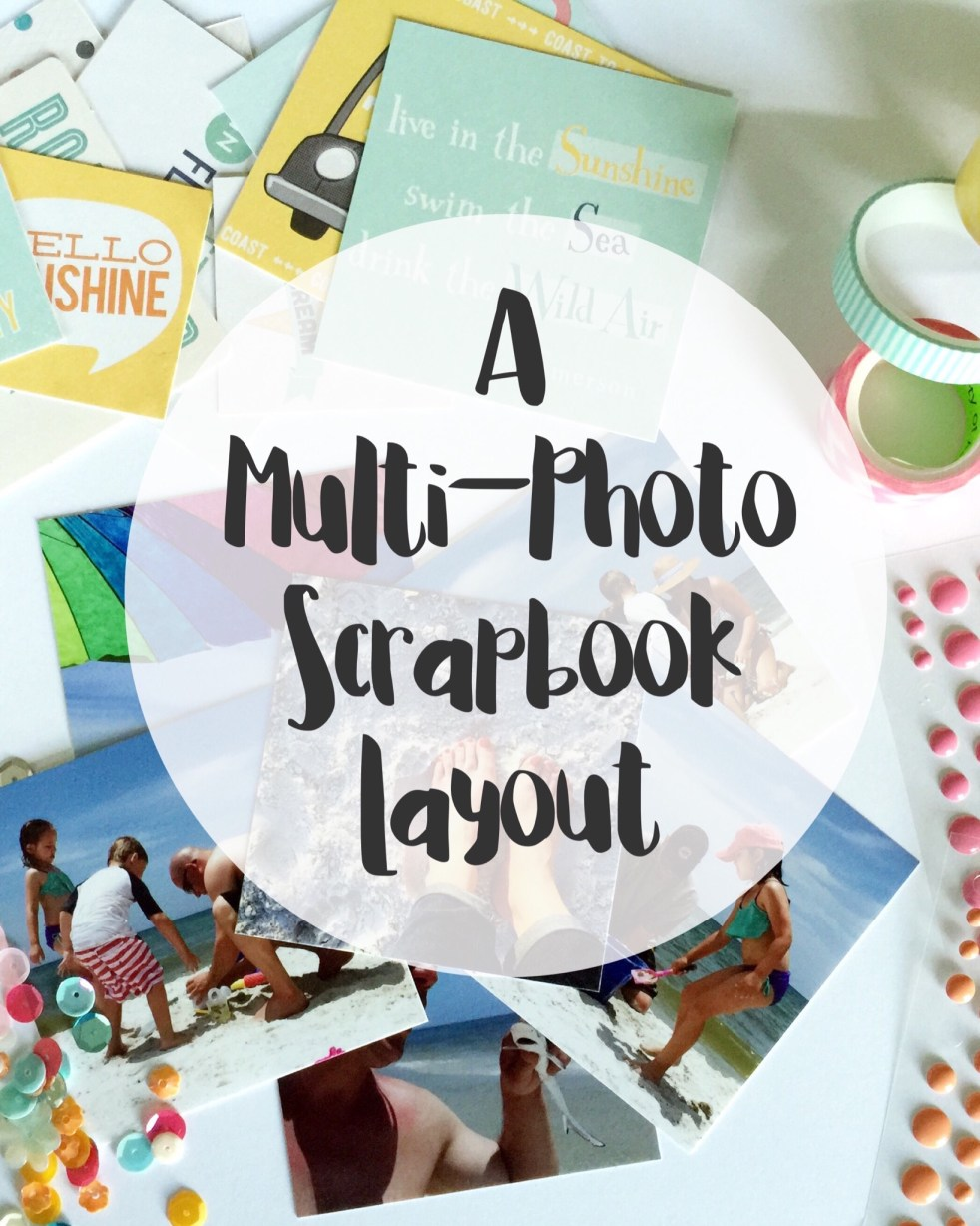 A Multi-Photo Scrapbook Layout | adriennesinklings.com