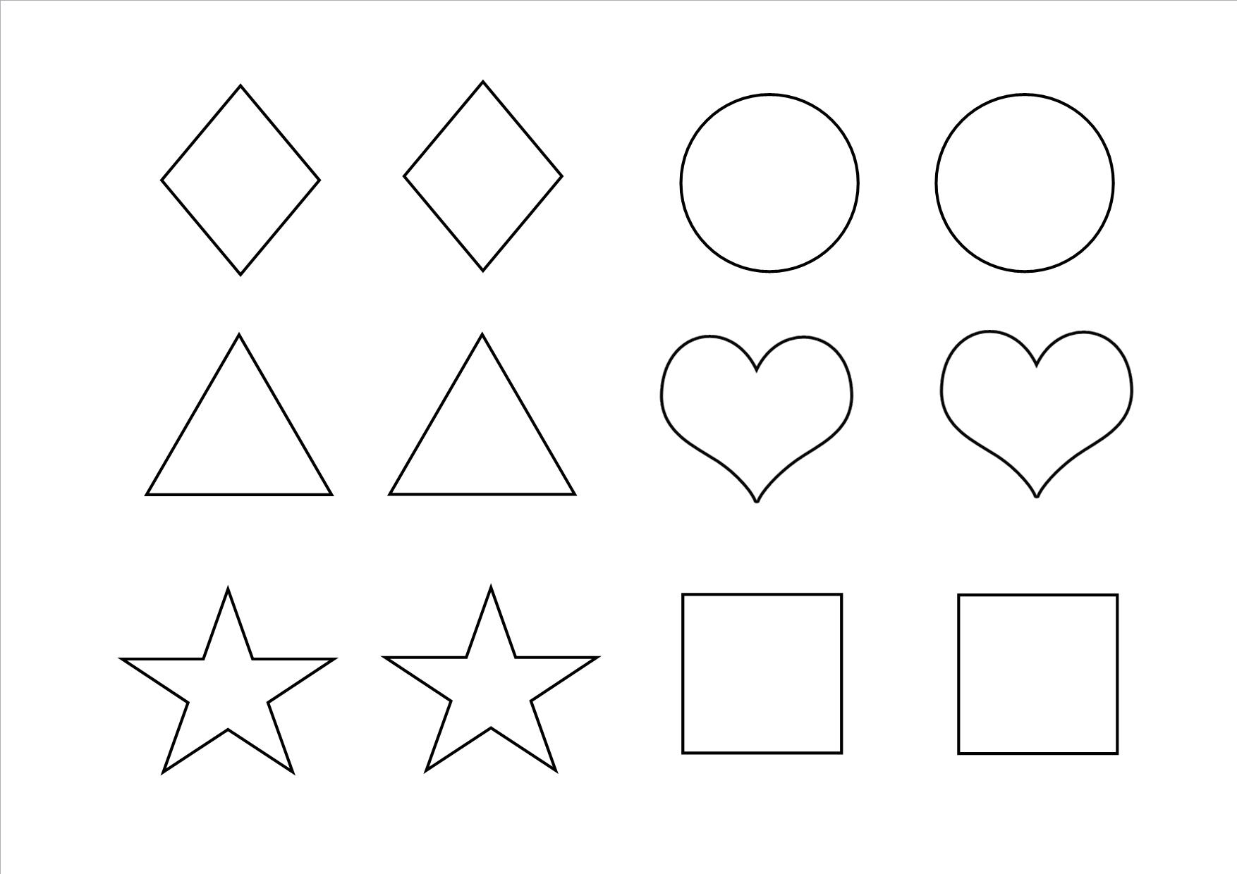 Heart Shape Cut Out Worksheet