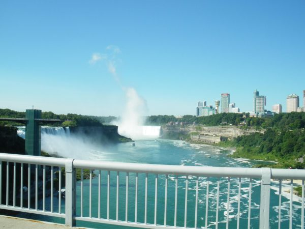 Niagara Falls from the Rainbow Bridge by Kat