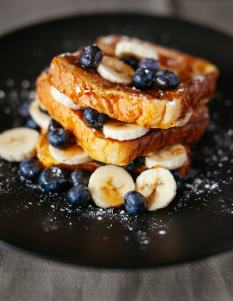 Toasted Bread and Blueberries
