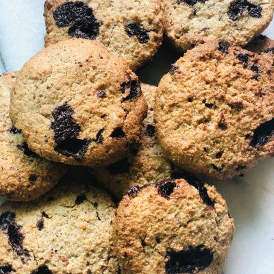 Almond & Chocolate Chip Cookies