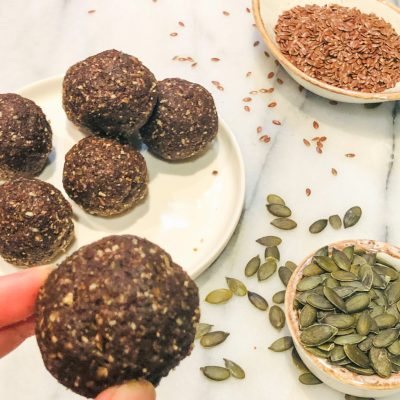 Chocolate & Seed Energy Balls
