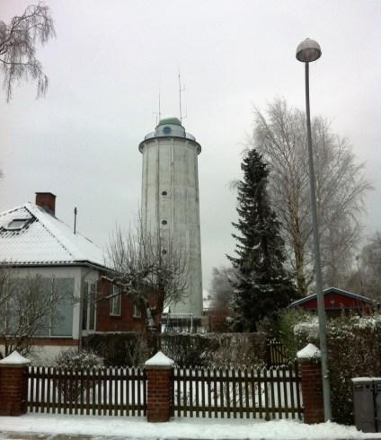 Hvidovre Vandtårn in the snow