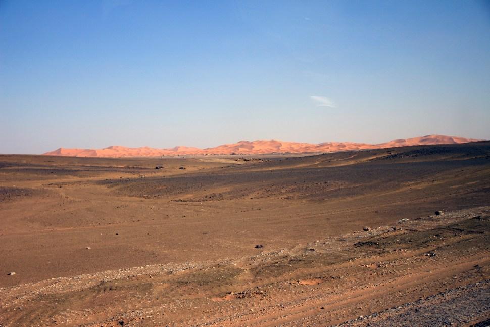 Les dunes comme un lointain mirage